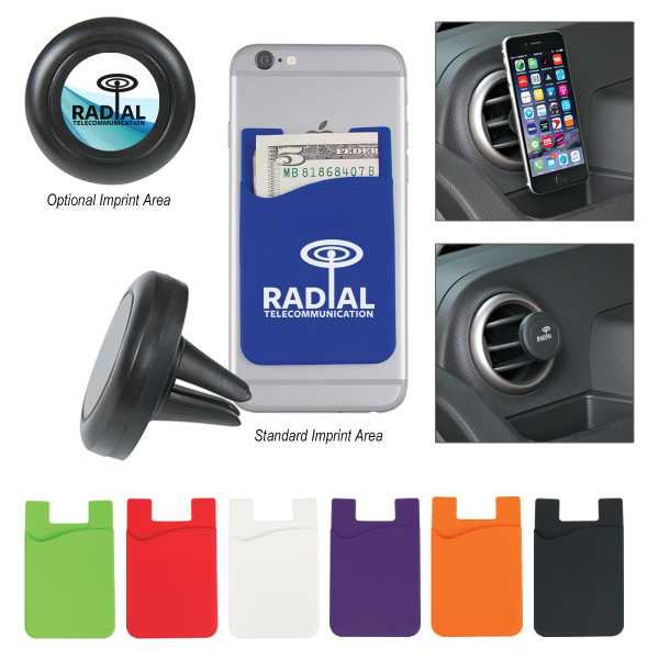 Magnetic phone wallet in