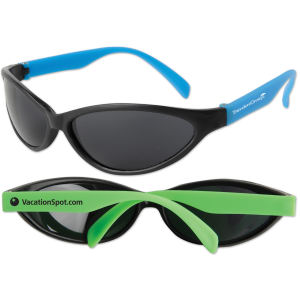 Wrap-style sunglasses available in