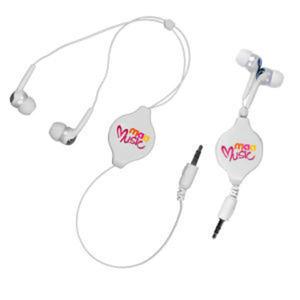 Retractable ear buds; chrome
