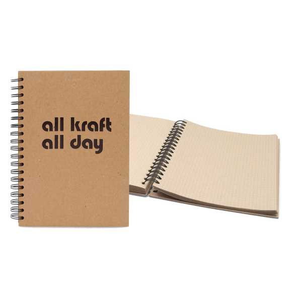 Spiral-bound journal with classic
