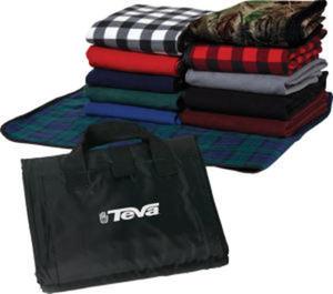 Fleece picnic blanket.