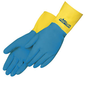 Unsupported flock lined glove