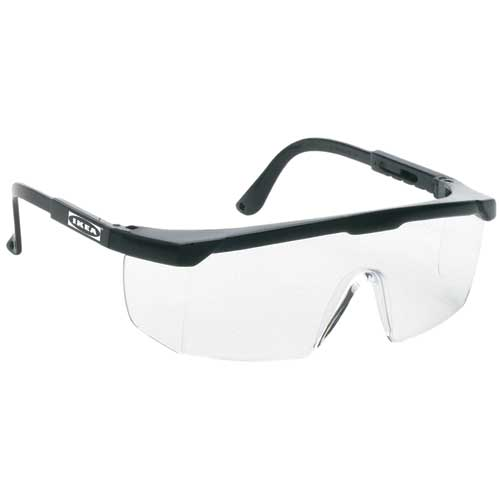 Large Single-Lens Safety Glasses
