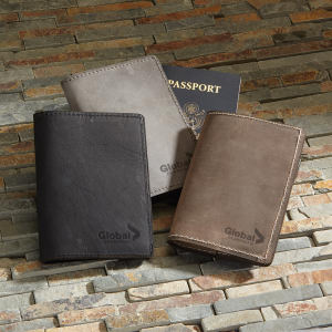 Promotional Passport/Document Cases-TCURRIER