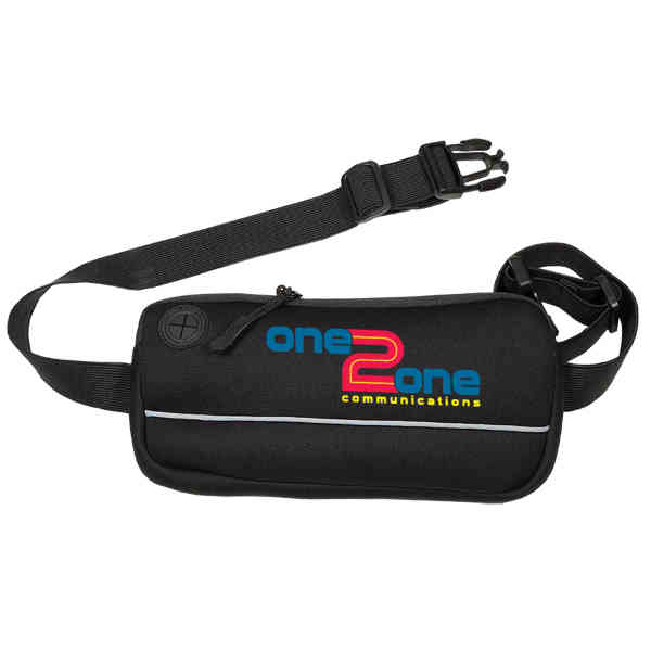 Zippered fitness belt with