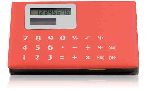 Memo holder with calculator