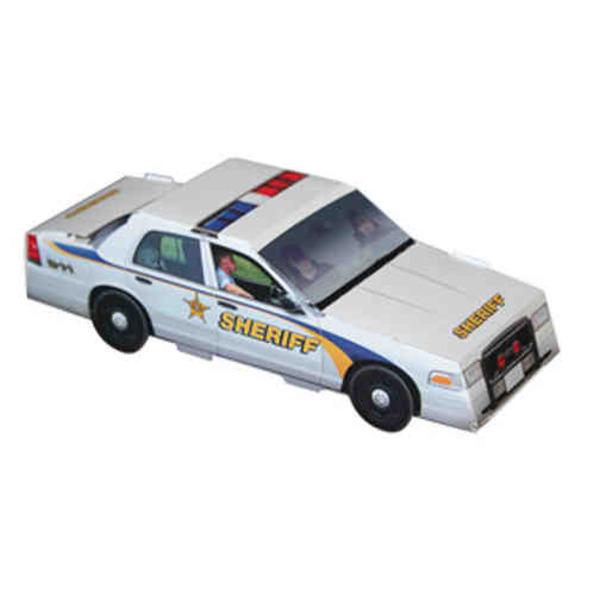 Foldable Die-cut Sheriff Car,Full
