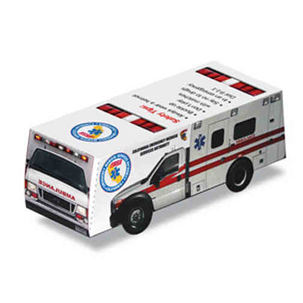 Foldable Die-cut Ambulance,Full Color