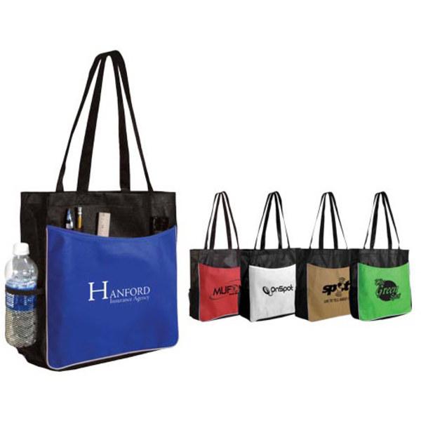Non-woven business tote bag.