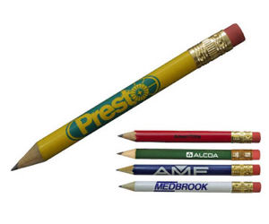 Golf pencil with eraser,