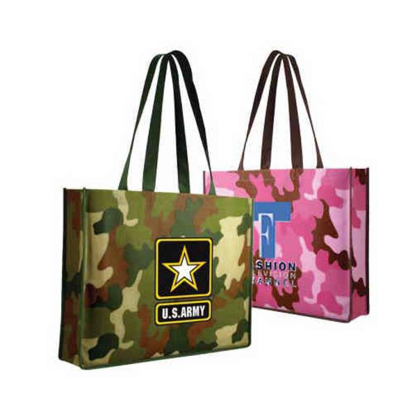 Non-woven polypropylene camouflage design