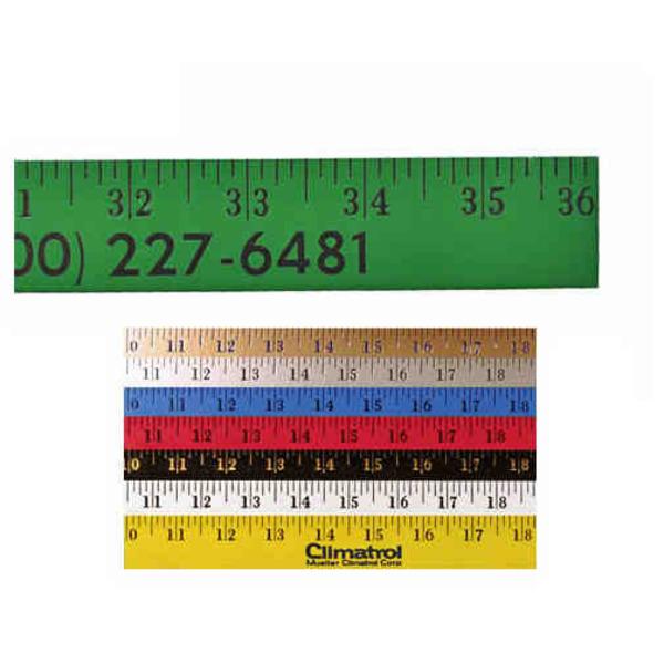 Enamel finish yardstick with