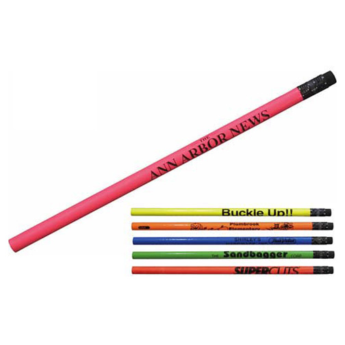 Fluorescent wood pencil with