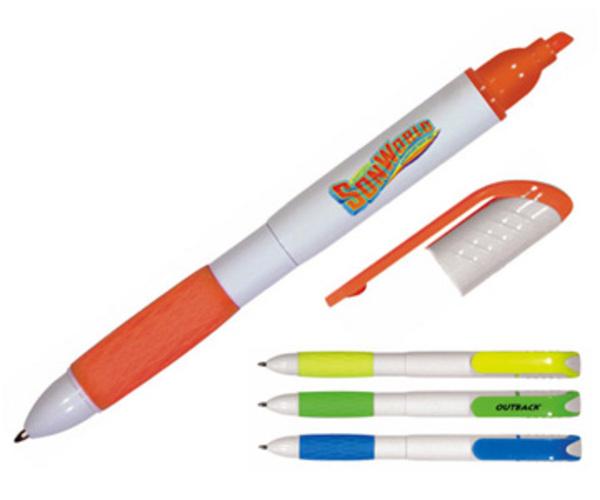 Pen/highlighter combo, full color