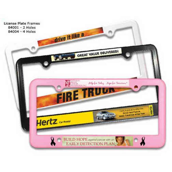 License plate frame, 4