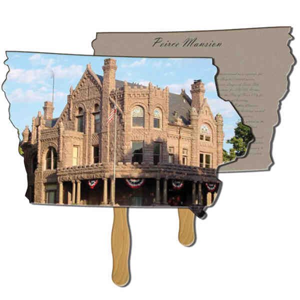 Iowa State shaped fan