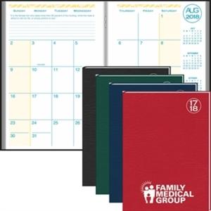 Monthly academic desk planner