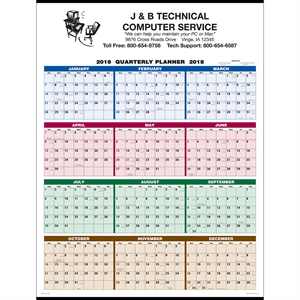 Commercial calendar with full
