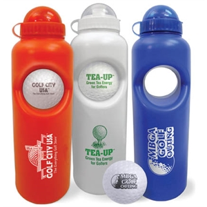 Stress ball/water bottle set;