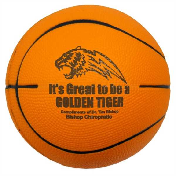 Solid colored foam basketball,