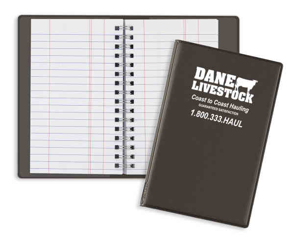 Wire-O tally book with