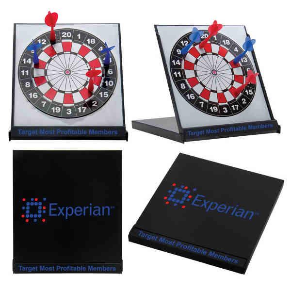 Desktop magnetic dart board