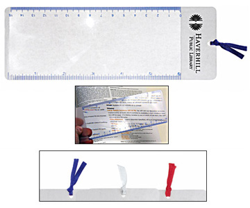 Flexible, lightweight bookmark magnifier