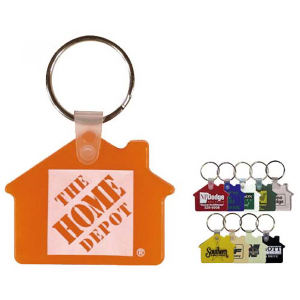 House shape key fob.