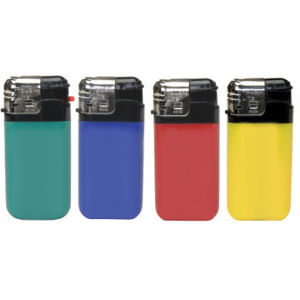 Electronic lighter with plastic