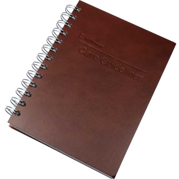 Leather spiral journal with