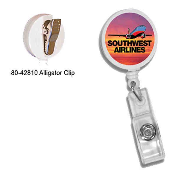 Round badge holder with