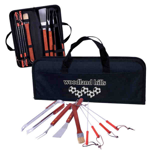 Eight piece barbecue set