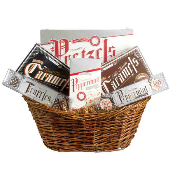 Gift basket filled with