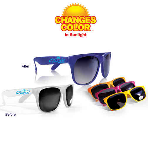 Color changing sunglasses.
