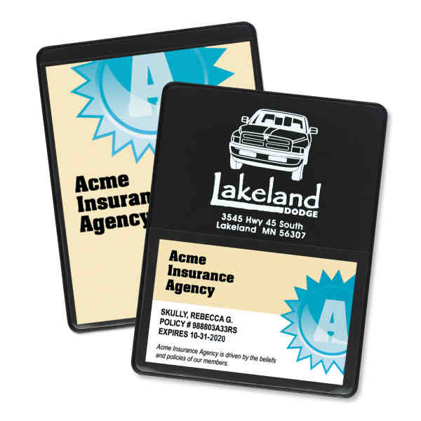 Single-panel proof of insurance