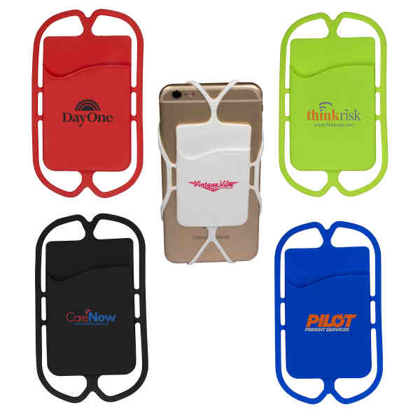 Silicone phone pocket with