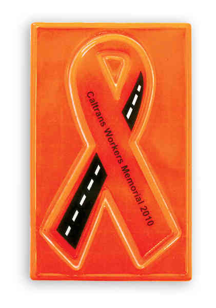 Reflective sticker with ribbon
