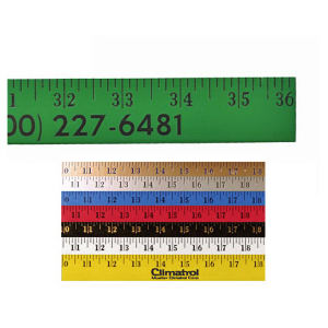Enamel finish yardstick with