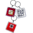 Promotional Plastic Keychains-KT1 Square