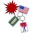 Promotional Plastic Keychains-KT2 Rectangle
