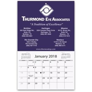 Mini wall calendar with