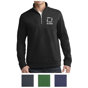 1/4-zip pullover made from