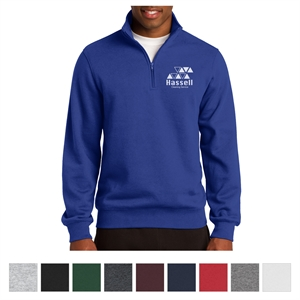 1/4-zip sweatshirt made from