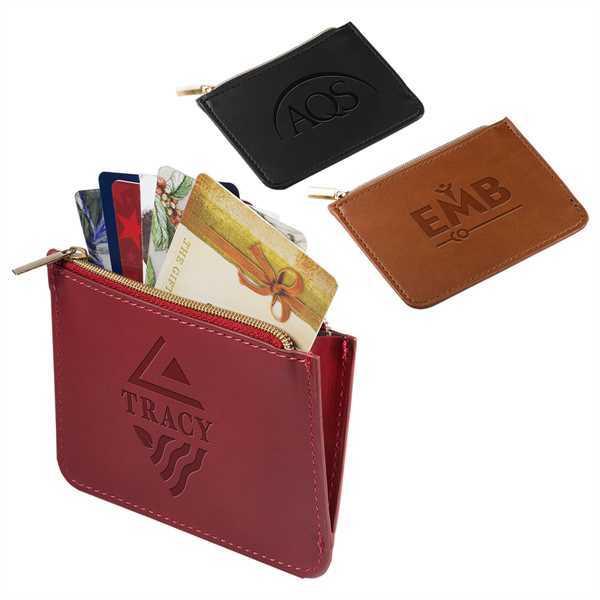 Zipper pouch style wallet