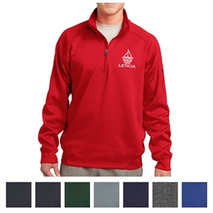 1/4-zip pullover with double-knit