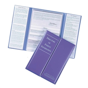 Room guide folder with