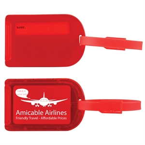 Luggage tag with slide