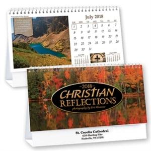 Spiral bound desk calendar