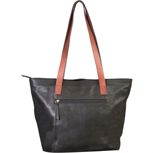 Full grain leather tote