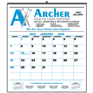 Commercial wall calendar with